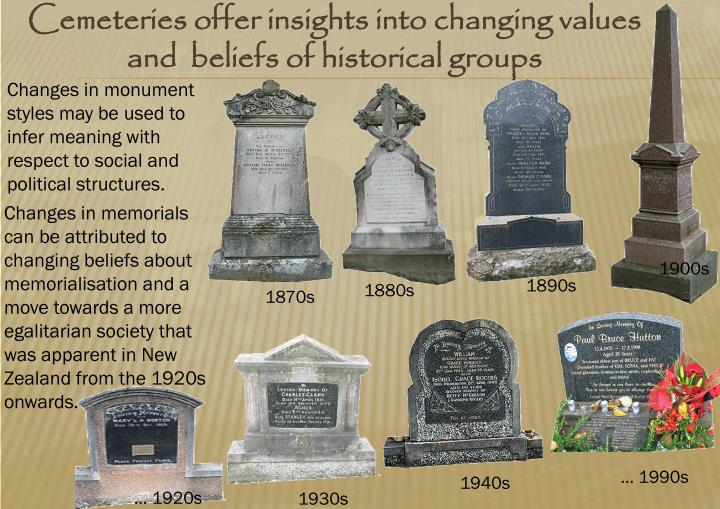 Cemeteries offer insights into changing values