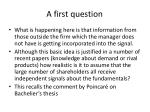 a first question