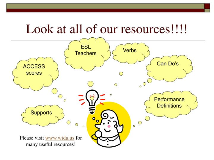 Look at all of our resources!!!!