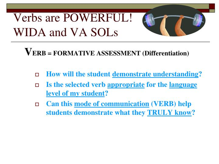Verbs are POWERFUL!