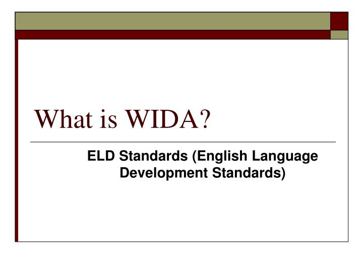 What is wida