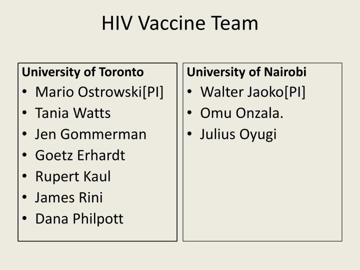 HIV Vaccine Team