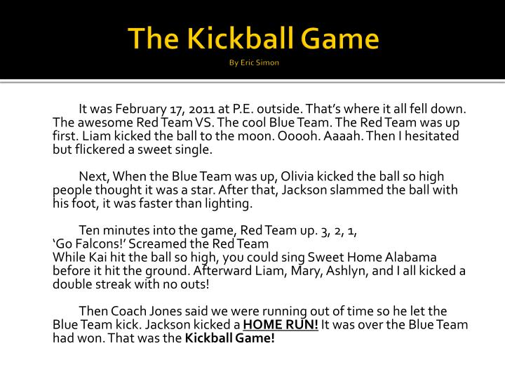 The Kickball Game