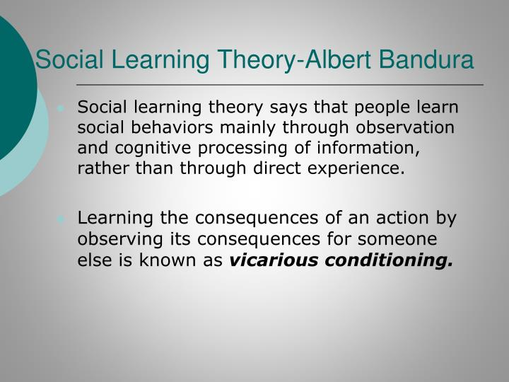 Social Learning Theory-Albert Bandura
