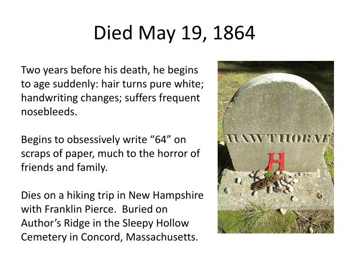 Died May 19, 1864