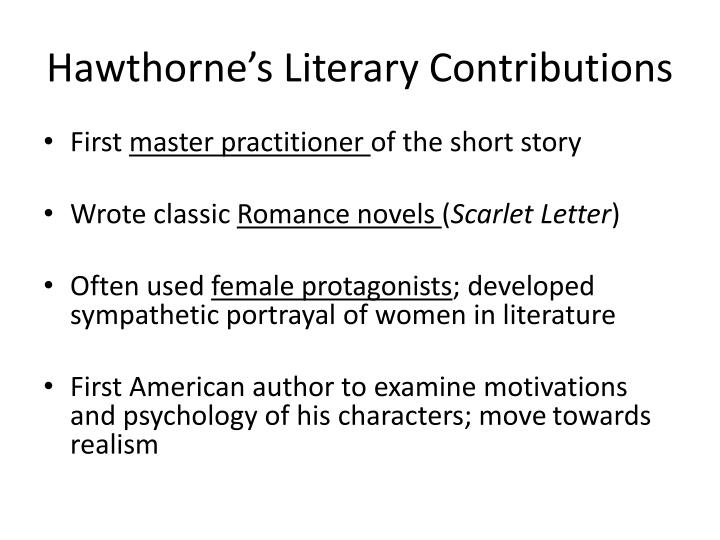 Hawthorne's Literary Contributions