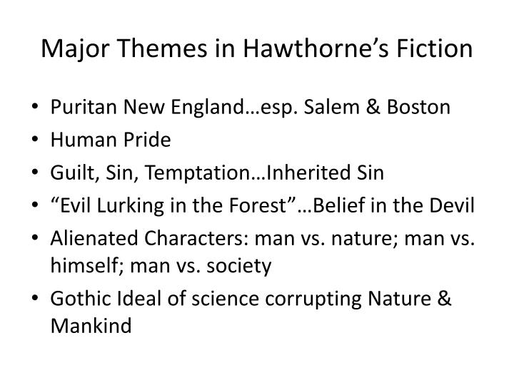 Major Themes in Hawthorne's Fiction