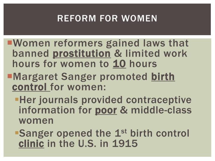 Reform for Women