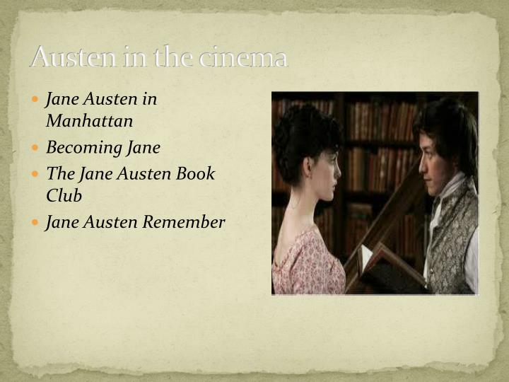 Austen in the cinema