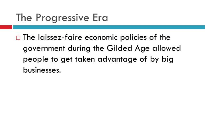 The progressive era1