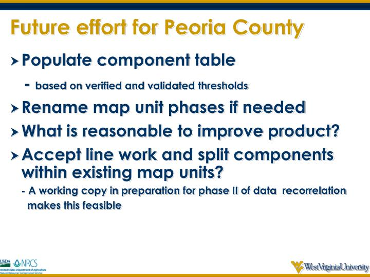 Future effort for Peoria County