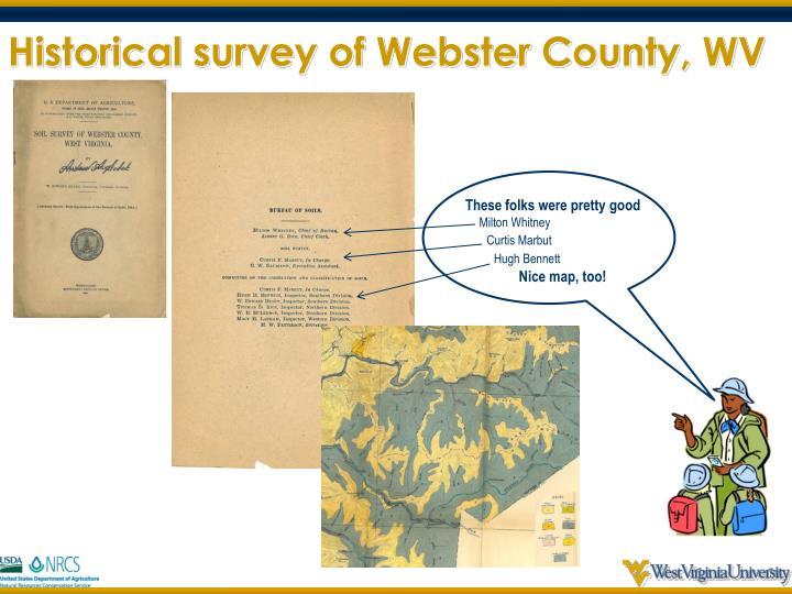 Historical survey of Webster County, WV
