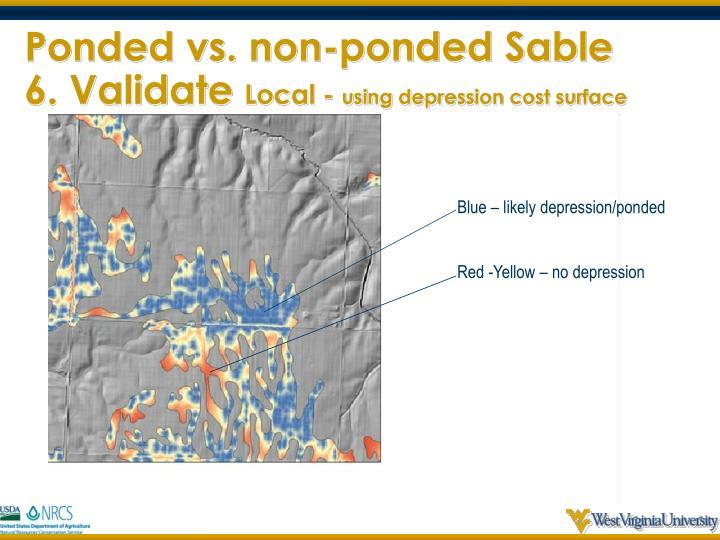 Ponded vs. non-ponded Sable