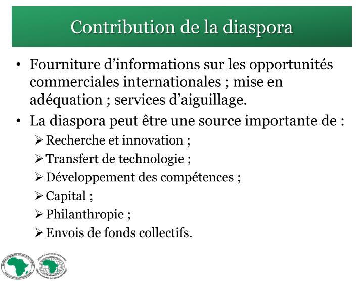 Contribution de la diaspora