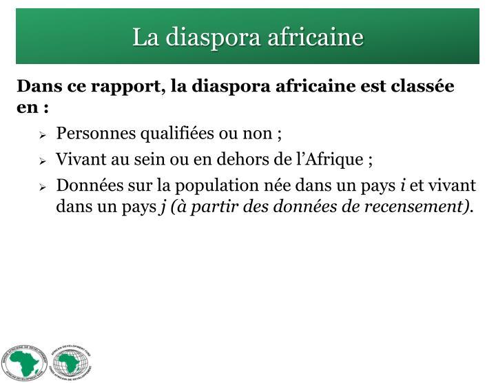 La diaspora africaine