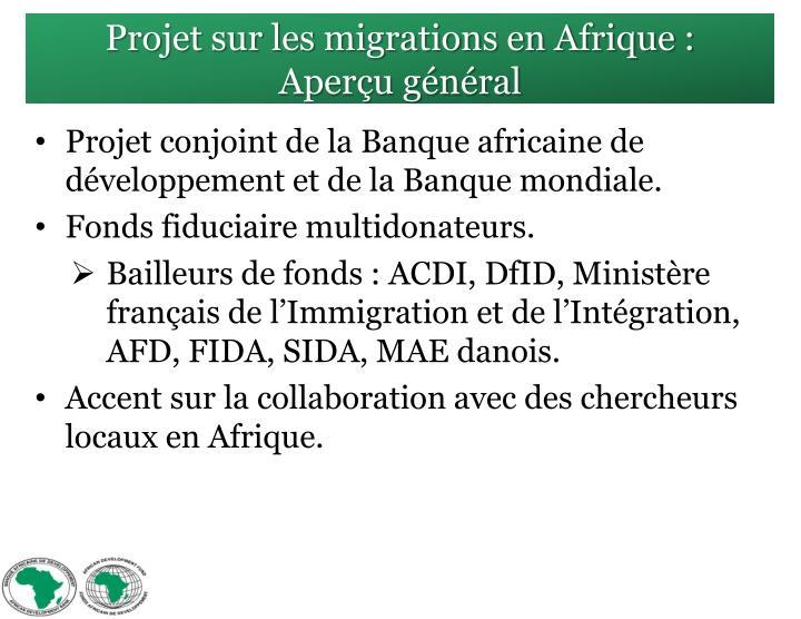 Projet sur les migrations en Afrique :