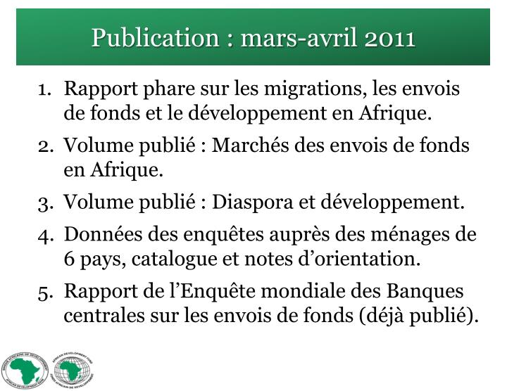 Publication : mars-avril 2011