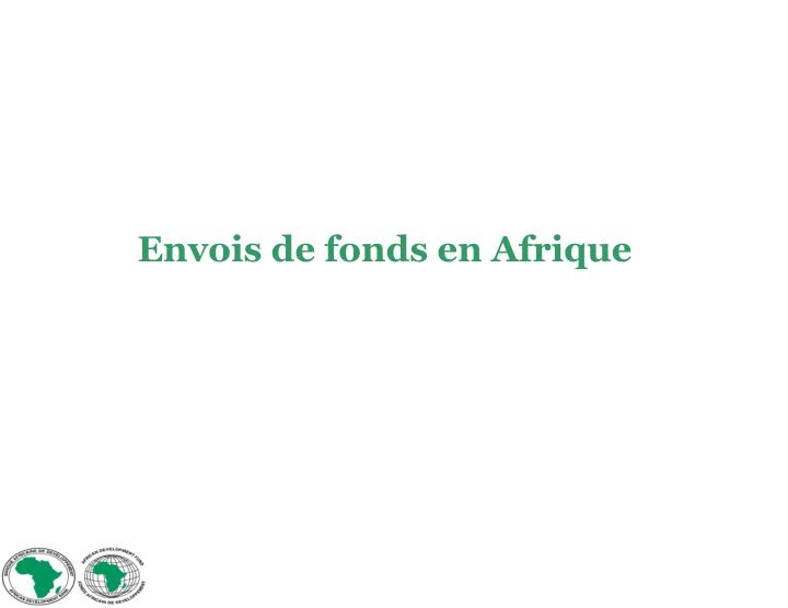 Envois de fonds en Afrique