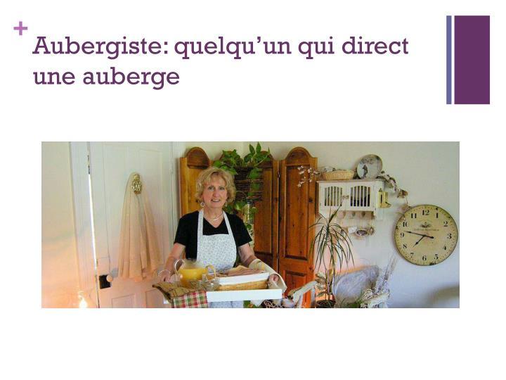 Aubergiste