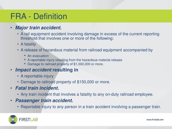 FRA - Definition