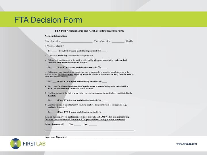 FTA Decision Form