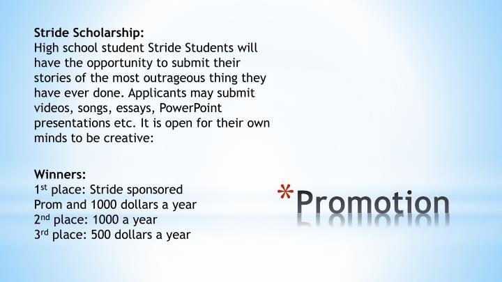 Stride Scholarship: