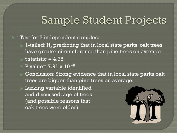 Sample Student Projects