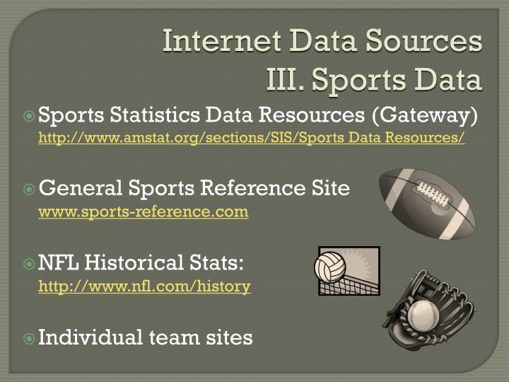 Internet Data Sources