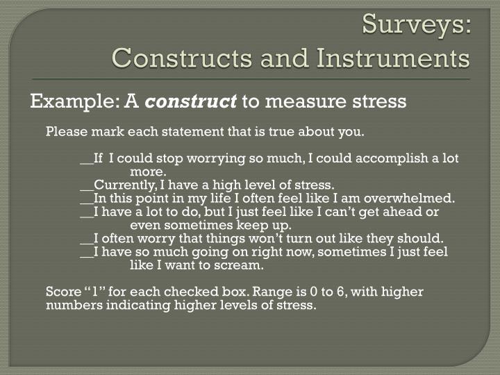 Surveys: