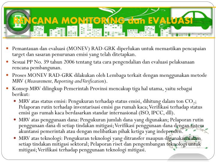RENCANA MONITORING