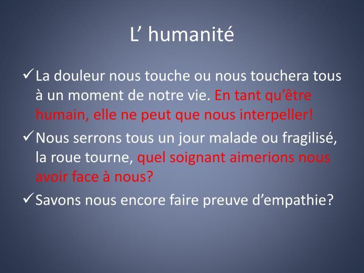 L' humanité