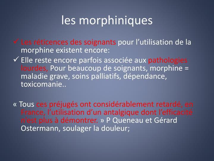 les morphiniques