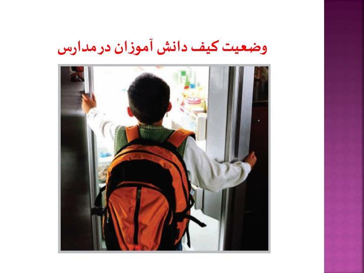 وضعیت کیف دانش آموزان در مدارس