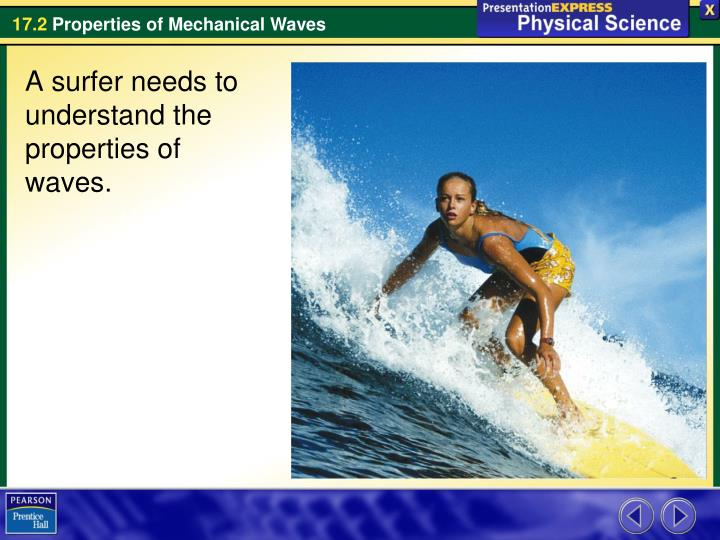 A surfer needs to understand the properties of waves.