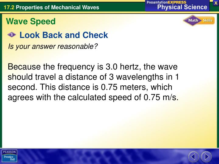 Wave Speed
