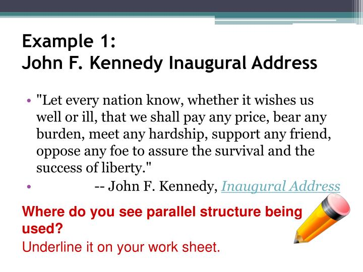 john kennedy inaugural address analysis