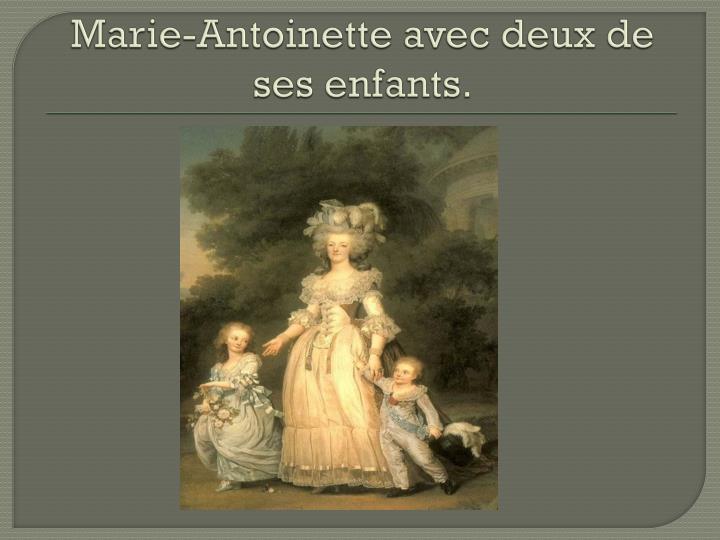 Marie-Antoinette avec