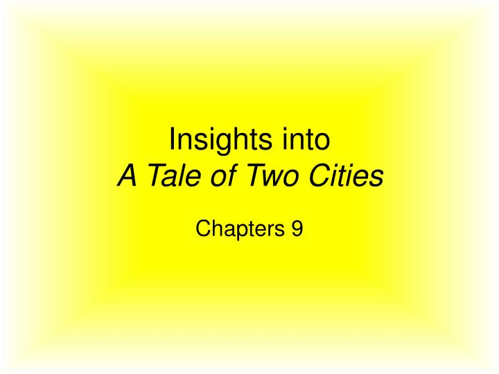 a tale of two cities essay thesis