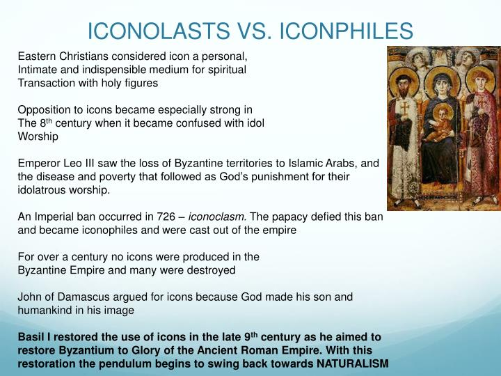 Iconolasts vs iconphiles
