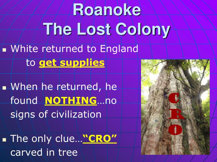 Roanoke the lost colony1