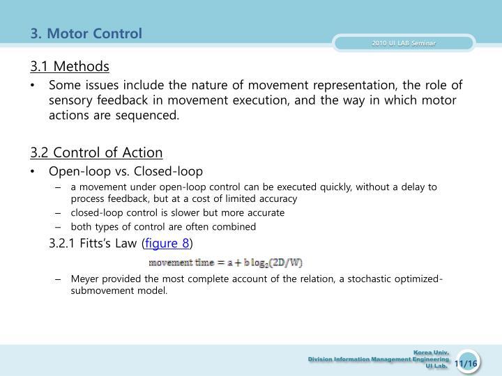 3. Motor Control