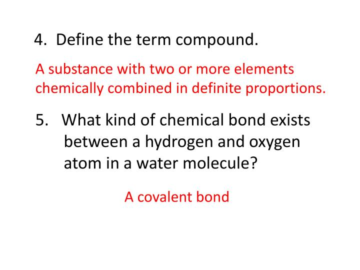 4 define the term compound