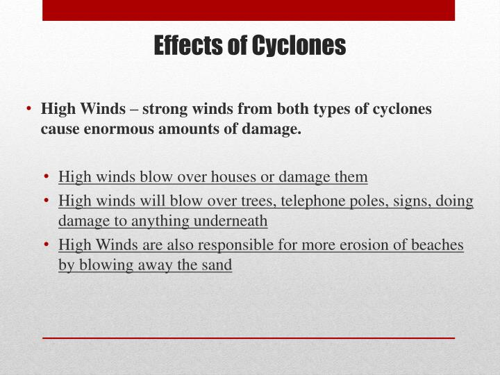 Effects of Cyclones