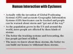 human interaction with cyclones1