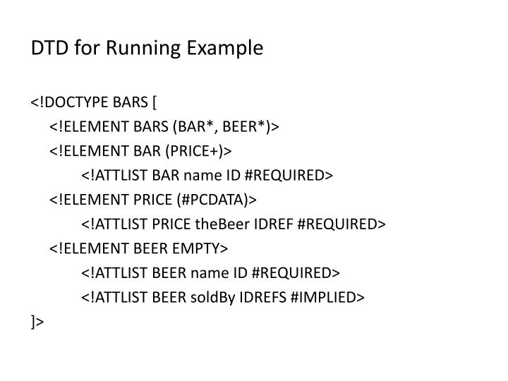 DTD for Running Example