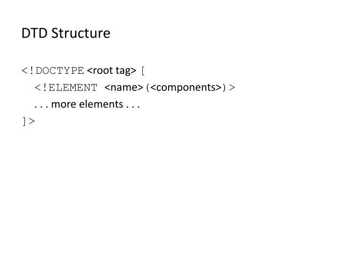 DTD Structure