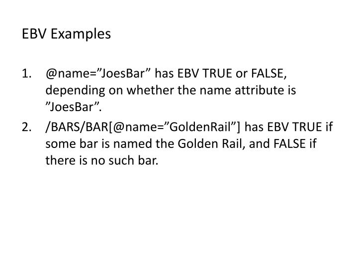 EBV Examples