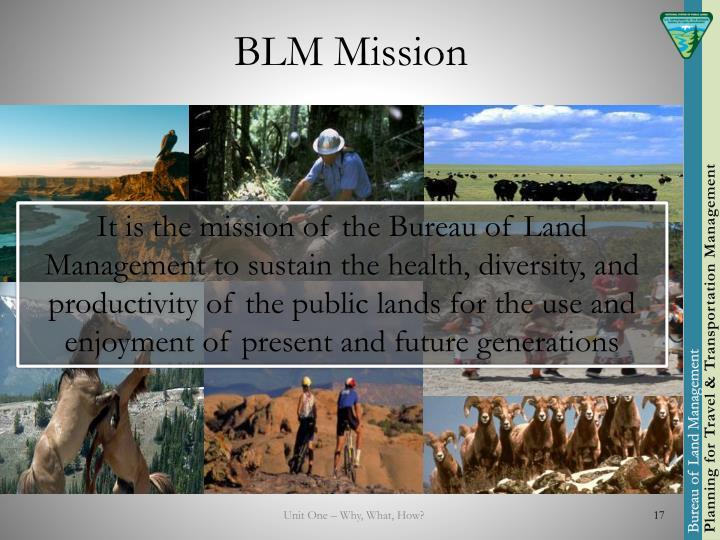 BLM Mission