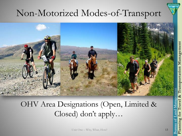 Non-Motorized Modes-of-Transport