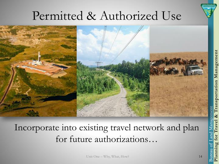 Permitted & Authorized Use